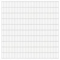 vidaXL 2D Pannelli di Recinzione 2,008x2,03 m 18 m (Totale) Argento