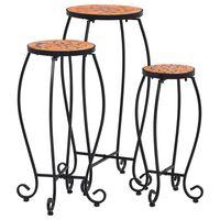 vidaXL Tavolini con Mosaico 3 pz Terracotta in Ceramica