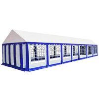 vidaXL Gazebo da Giardino in PVC 6x14 m Blu e Bianco