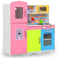vidaXL Cucina Giocattolo per Bambini in MDF 80x30x85 cm Multicolore