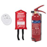 Smartwares Set di Sicurezza Antincendio 4 pz
