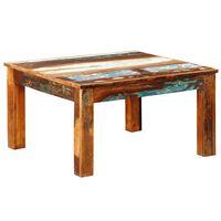 vidaXL Tavolino da Caffè Quadrato in Legno di Recupero