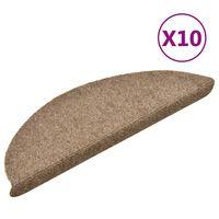 vidaXL Tappetini Adesivi per Scale 10 pz Crema 56x17x3 cm Agugliati