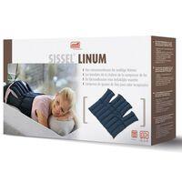 Sissel Cuscinetto Termico con Semi Lino Linum 38x36cm Blue SIS-150.051