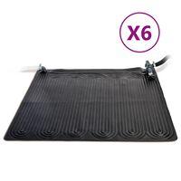 Intex Tappeto Solare Termico 6 pz in PVC 1,2x1,2 m Nero