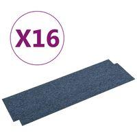 vidaXL Quadrotte di Moquette 16 pz 4 m² 25x100 cm Blu
