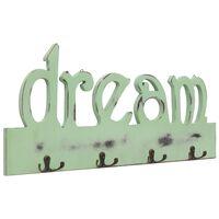 vidaXL Appendiabiti a Muro DREAM 50x23 cm
