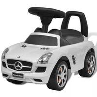 vidaXL Automobile a Spinta Mercedes Benz Bianca Cavalcabile Bambini