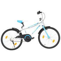 vidaXL Bici per Bambini 20 Pollici Blu e Bianca