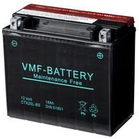 VMF Powersport Batteria Liquifix 12 V 18 Ah MF YTX20L-BS