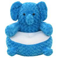 vidaXL Giocattolo di Peluche Elefante Blu