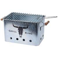 ProGarden Griglia Barbecue Zinco con Impugnature in Legno