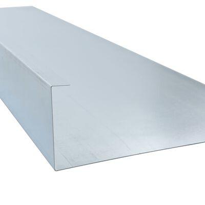 vidaXL Piastre di Recinzione per Lumache in Acciaio 170x7x25 cm 0,7 mm