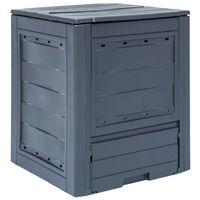 vidaXL Compostiera da Giardino 60x60x73 cm 260 L Grigia