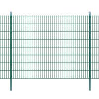 vidaXL Pannello di recinzione 2D giardino con paletti 2008x1630 mm 48m verde