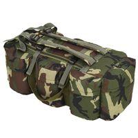 vidaXL Borsone da Viaggio Stile Militare 3 in 1 120 L Mimetico