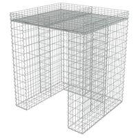 vidaXL Gabbione in Acciaio Zincato per Bidoni 110x100x130 cm