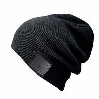 Cappello con cuffie Bluetooth e microfono - nero