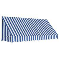 vidaXL Tenda da Sole per Bistrò 250x120 cm Blu e Bianca