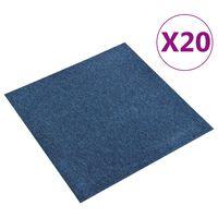 vidaXL Quadrotte di Moquette 20 pz 5 m² 50x50 cm Blu Scuro