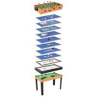 vidaXL Set Giochi da Tavola 15-in-1 121x61x82 cm in Acero
