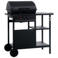vidaXL Barbecue e Griglia a Gas con 3 Ripiani Nero