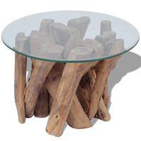 vidaXL Tavolino da Caffè in Legname Massello di Teak 60 cm