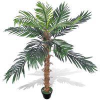 Palma da Cocco Pianta Artificiale con Vaso 140 cm
