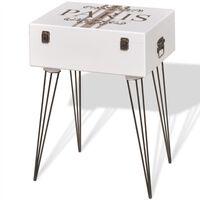 vidaXL Mobiletto 40x30x57 cm Bianco