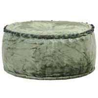 vidaXL Pouf Rotondo in Velluto 40x20 cm Verde