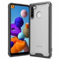 Samsung Galaxy A21 necessita di TPU nero / trasparente