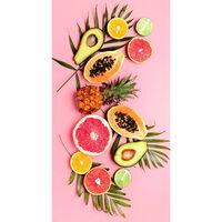 Good Morning Telo da Spiaggia PINK FRUITS 75x150 cm Rosa