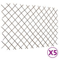 vidaXL Recinzione a Traliccio in Salice 5 pz 180x120 cm
