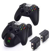 Caricabatterie doppio per Xbox One S / Elite / X con 2 batterie