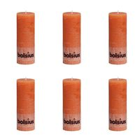 Bolsius Candela a Pilastro Rustica 190 x 68 mm Arancione 6 pz