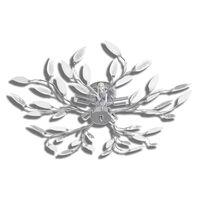 vidaXL Lampada da Soffitto Bianca Trasparente Cristalli Acrilici 5 E14