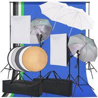 vidaXL Kit di Illuminazione per Studio Fotografico