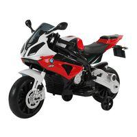Homcom Moto Elettrica per Bambini BMW RR 12V, Nero e Rosso