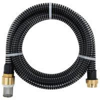 vidaXL Tubo di Aspirazione con Connettori in Ottone 7 m 25 mm Nero
