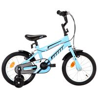 vidaXL Bici per Bambini 14 Pollici Nera e Blu