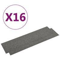 vidaXL Quadrotte di Moquette 16 pz 4 m² 25x100 cm Grigio