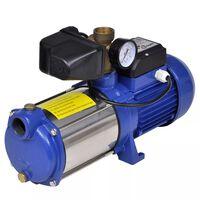 Pompa a getto con manometro 1300 W 5100 L/h blu