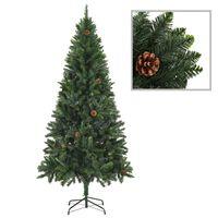 vidaXL Albero di Natale Artificiale con Pigne Verde 180 cm