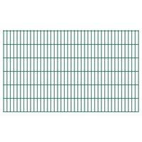 vidaXL 2D Pannelli Recinzione Giardino 2,008x1,23 m 14m (Totale) Verde