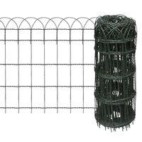 vidaXL Recinzione per Giardino in Ferro Verniciato a Polvere 10x0,65 m