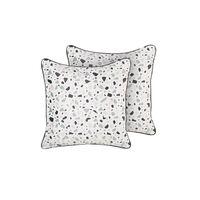 Set di 2 cuscini in velluto multicolore 45 x 45 cm LAVENDER