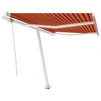 vidaXL Tenda da Sole con LED Sensore Vento 350x250 cm Arancio Marrone