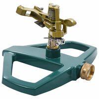 vidaXL Irrigatore Rotante Verde 21x22x13 cm in Metallo