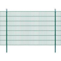 vidaXL Pannelli di recinzione 2D giardino con paletti 2008x1430 mm 14m verde
