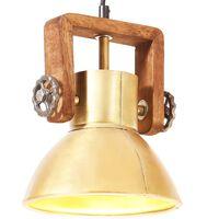 vidaXL Lampada a Sospensione Industriale 25 W Ottone Rotonda 19 cm E27